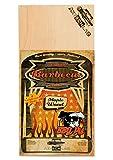 Axtschlag Wood Planks Single Used Maple - Ahorn 300 x 150 x 2 mm Einmal Einmal Grillbretter, gegrillter feta-image-Gegrillter Feta Käse mit Blaubeeren von der Planke