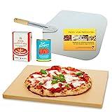 Vesuvo V38301 Pizzastein- / Brotbackbackstein Set für Backofen und Grill / eckig / 38x33 cm / mit... brötchen-image-Brötchen backen – Rezept für Bäckerbrötchen / Sonntagsbrötchen