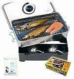 Behr Edelstahl-Tischräucherofen geräucherte forellen-image-Geräucherte Forellen – Anleitung Fisch räuchern