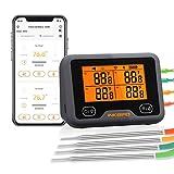 Inkbird WLAN & Bluetooth Grillthermometer IBBQ-4BW, WiFi Fleischthermometer mit 4 Temperaturfühlern... inkbird ibbq-4bw-image-Inkbird IBBQ-4BW Grillthermometer im Test inkbird ibbq-4bw-image-Inkbird IBBQ-4BW Grillthermometer im Test