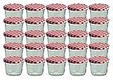 CapCro 25er Set Sturzglas 230 ml Marmeladenglas Einmachglas Einweckglas to 82 rot Karierter Deckel eingelegte jalapenos-image-Eingelegte Jalapenos – Chilis selber einlegen