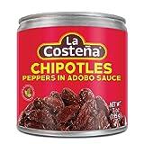 La Costena Chili Chipotle , 8er Pack (8 x 199 g) chipotle sauce-image-Chipotle Sauce für Burger und Sandwiches chipotle sauce-image-Chipotle Sauce für Burger und Sandwiches