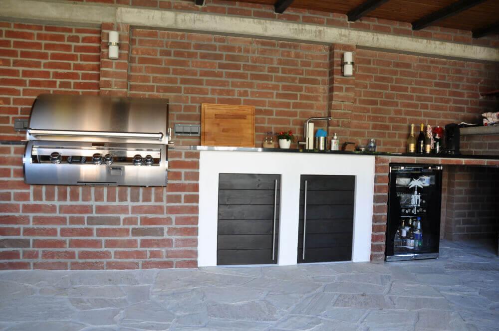 memyself 39 s aussenk che bbq pit mit monolith und. Black Bedroom Furniture Sets. Home Design Ideas
