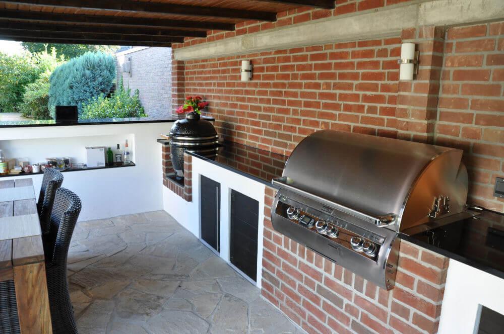 Aussenküche Gemauert memyself s aussenküche bbq pit mit monolith und firemagic gasgrill