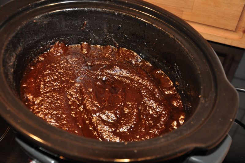 Die Apple Butter ist fertig Apple Butter aus dem Crockpot-apple butter-AppleButter07