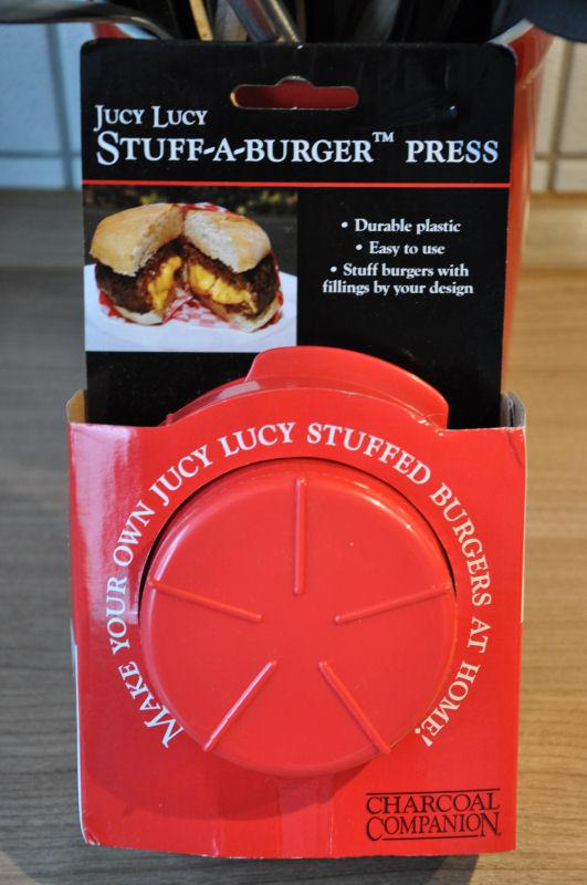 Stuff-a-burger Presse Griechischer Burger mit Feta gefüllt-Griechischer Burger-Burger03