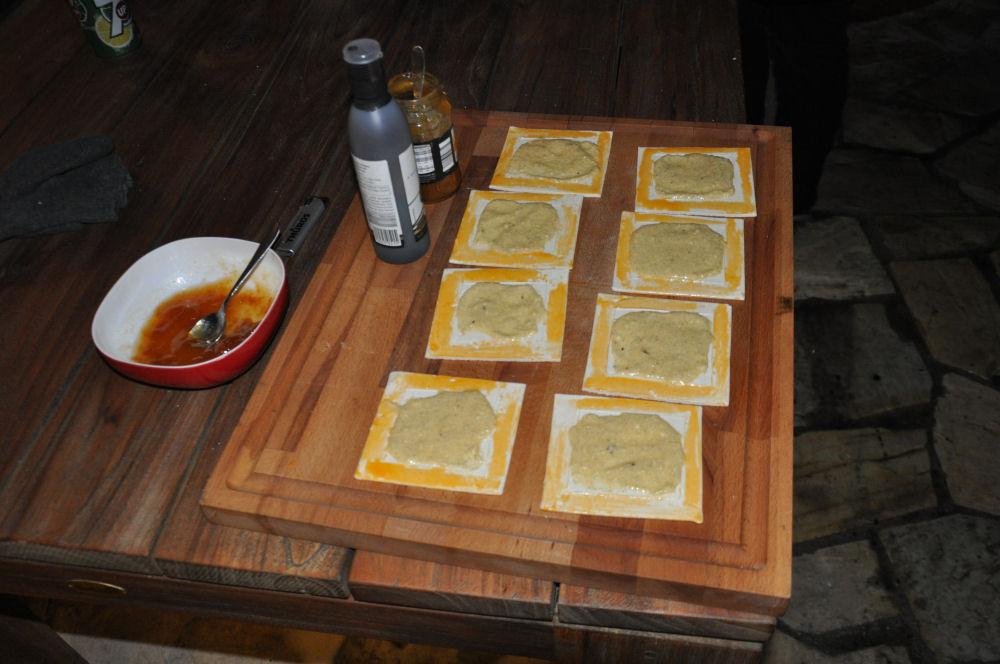 Dessert wird vorbereitet Radio KW-Wintergrillen14-Wintergrillen bei den BBQ Wieseln Niederrhein mit Radio KW