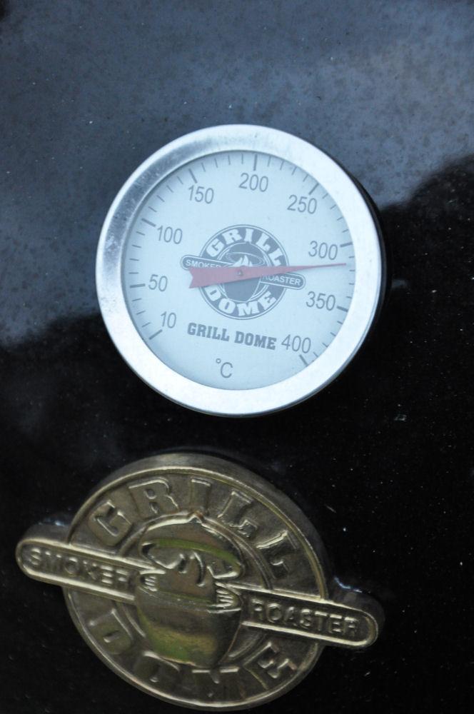 Angrillen im Grill Dome bei 300 Grad US-Rumpsteak-USRump03-US-Rumpsteak auf Grillgemüse