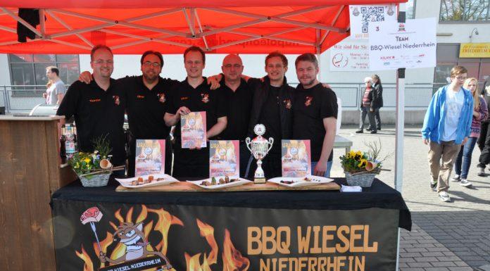 Die BBQ Wiesel Niederrhein werden Vizemeister bei der 1.Overather Grillmeisterschaft-Overather Grillmeisterschaft-OV19 696x385