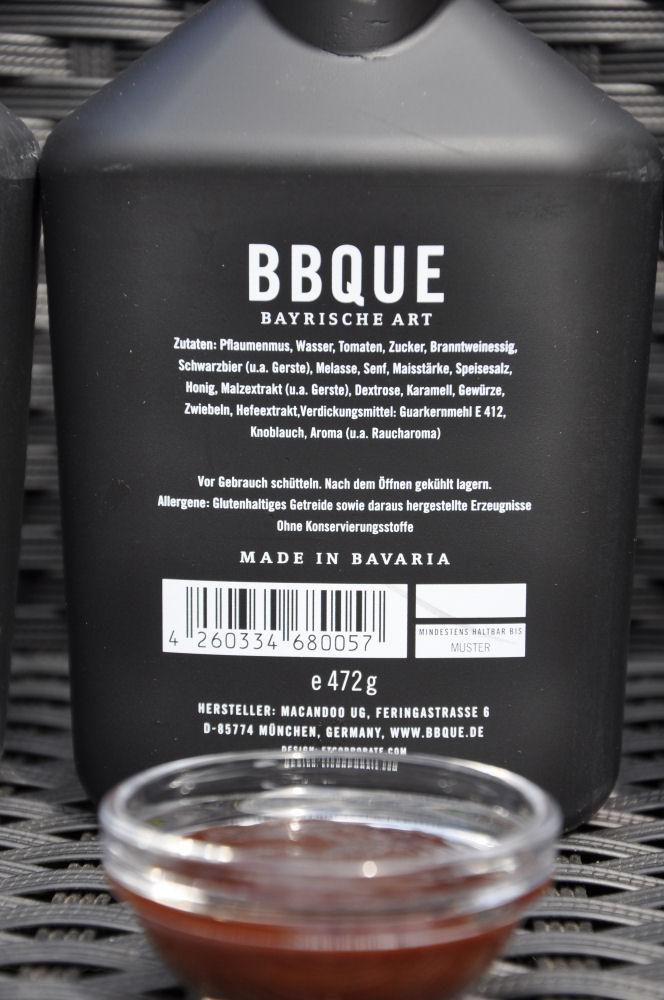 BBQUE Bayrische BBQ-Sauce Grill & Buchenholz Alle 4 Sorten BBQUE Bayrische BBQ Sauce im Test-BBQUE-BayrischeBBQUESauce05