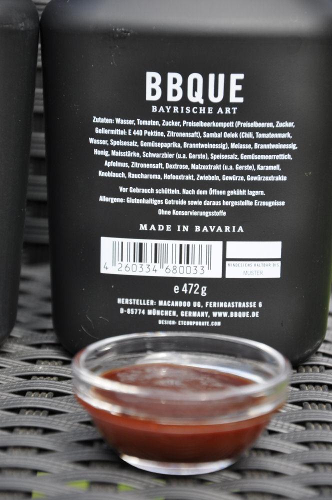 """BBQUE Bayrische BBQ-Sauce """"Chili & Kren"""" Alle 4 Sorten BBQUE Bayrische BBQ Sauce im Test-BBQUE-BayrischeBBQUESauce06"""