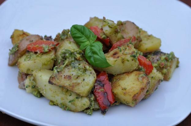 Kartoffelsalat mit Pistazienpesto