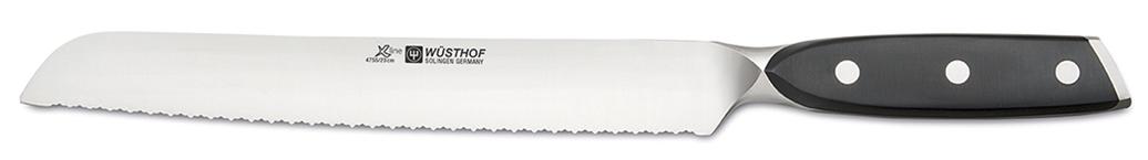 Wüsthof Messer Xline Brotmesser 4755 mit 23cm Klinge mit Präzisionsdoppelwelle Wüsthof Messer-WuesthofXlineBrotmesser4755-Produktvorstellung Wüsthof Messer