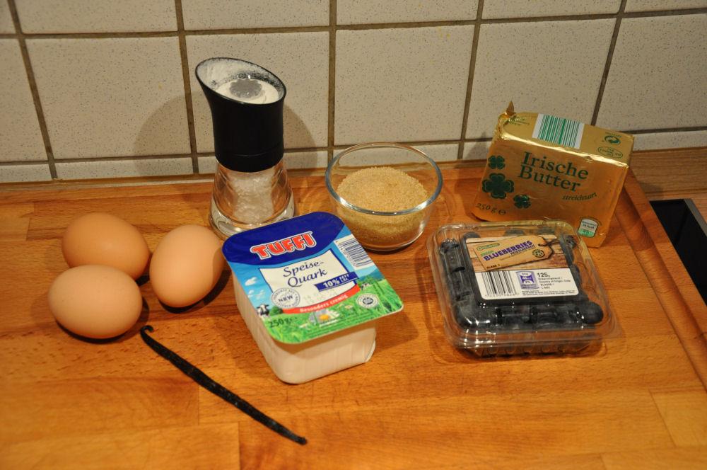 Zutaten für das Blaubeer-Souffle quark-soufflé-QuarkSouffle01-Quark-Soufflé vom Grill mit Blaubeeren