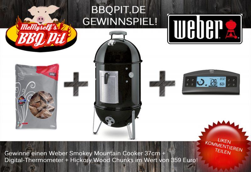 Weber Gewinnspiel-WeberSmokeyMountainGewinnspiel 800x549-Gewinnspiel März 2014: Weber Smokey Mountain 37 + Zubehör im Wert von 359 Euro zu gewinnen