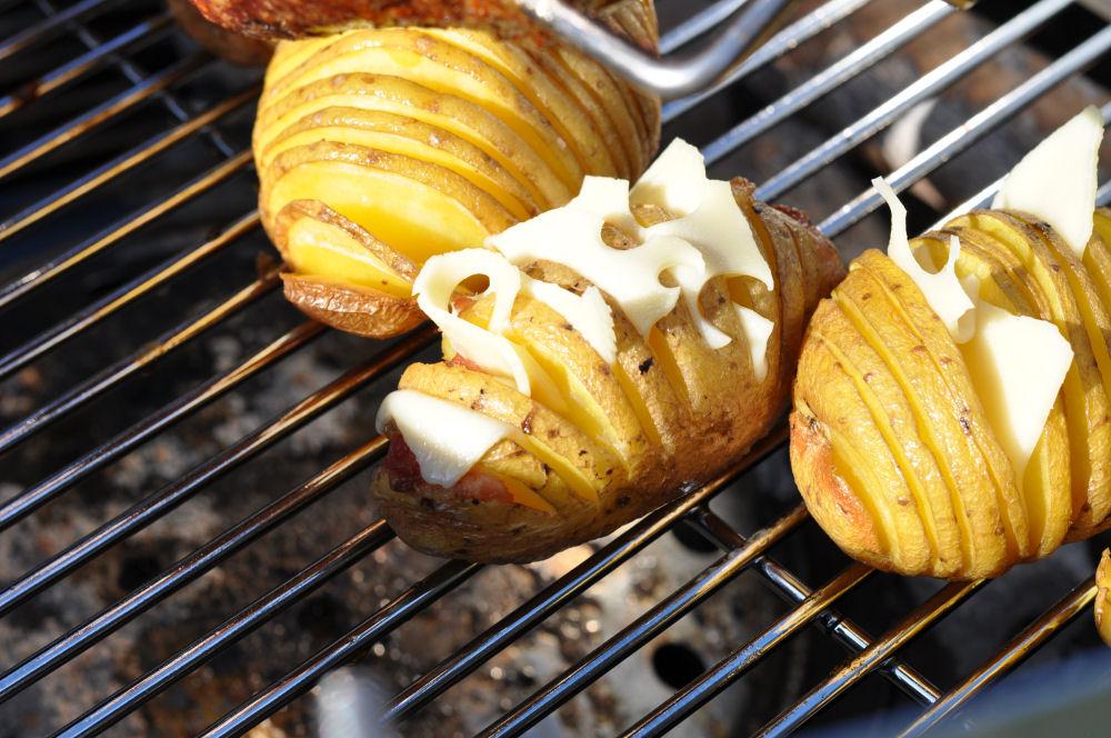 Hasselback Potatoes Fächerkartoffeln mit Bacon & Käse – Hasselback Potatoes-fächerkartoffeln-BaconCheeseFaecherkartoffeln03