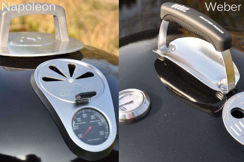 Kugelgrill kaufen Kugelgrill kaufen? Vergleich Napoleon NK22CK-L-1 mit Weber Mastertouch GBS 57cm-Kugelgrill kaufen-griffvergleich