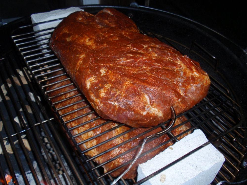 Doppel-Pulled Pork im Kugelgrill pulled pork-PfingstPP07-Pulled Pork im Kugelgrill – Wie macht man das eigentlich?