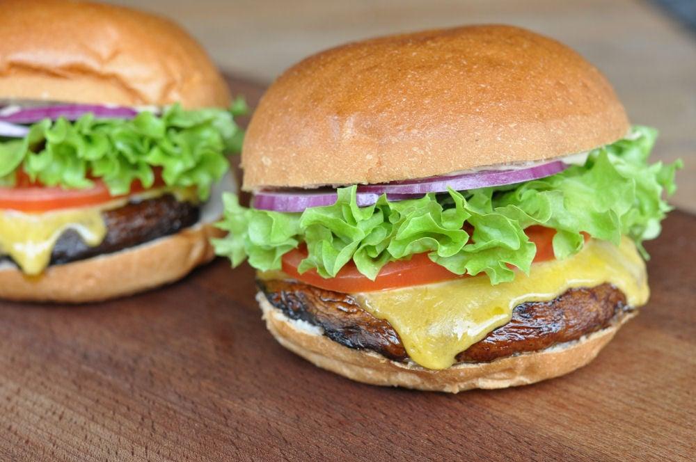 mal was vegetarisches portobello mushroom burger