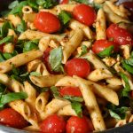 Italienischer Nudelsalat Pesto-Nudelsalat nach italienischer Art-Pesto-Nudelsalat-PestoNudelsalat 150x150