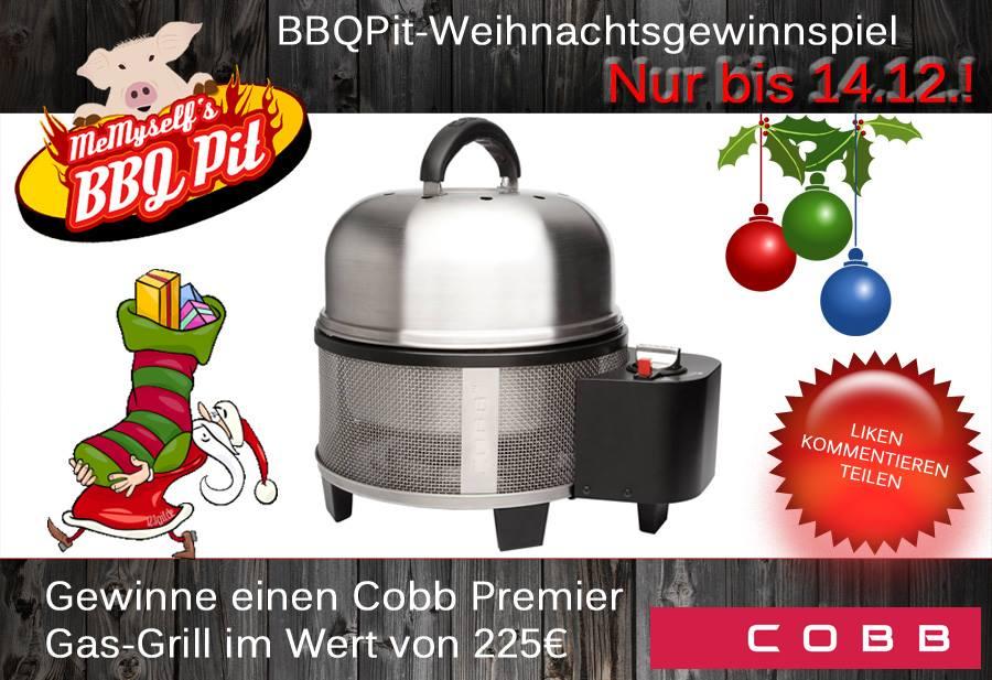 weihnachtsgewinnspiel gewinne einen cobb gas grill im wert von 225 grillrezepte. Black Bedroom Furniture Sets. Home Design Ideas