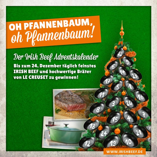 Irish Beef Adventskalender Irish Beef Adventskalender und Gewinnspiel-Irish Beef Adventskalender-IrishBeefLeCreuset