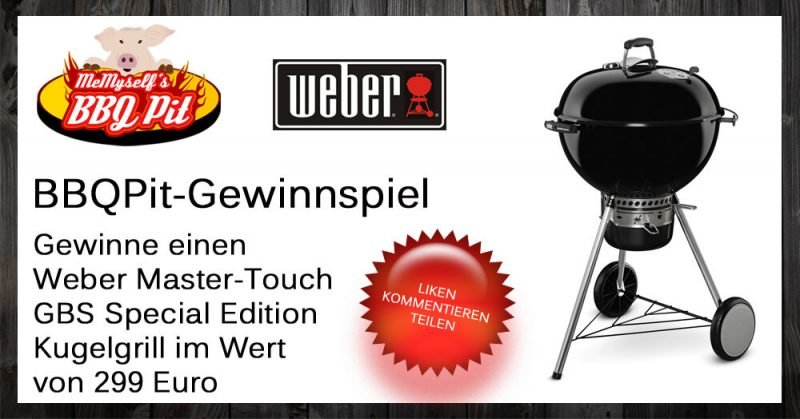 gewinne einen weber kugelgrill master touch gbs special. Black Bedroom Furniture Sets. Home Design Ideas
