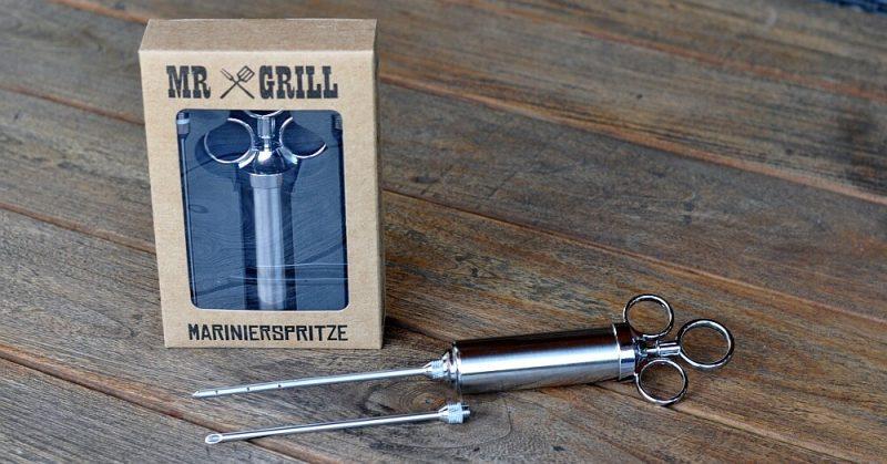 mr grill marinierspritze-Marinierspritze 800x419-Mr Grill Marinierspritze aus Edelstahl