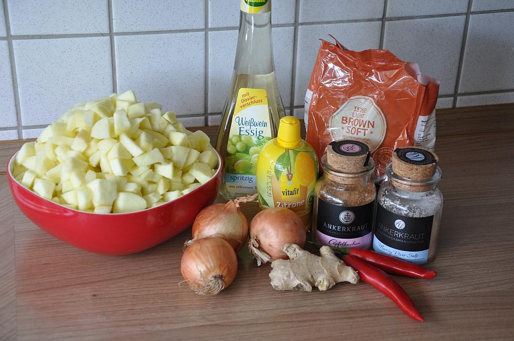 chutney selber machen apfelchutney-Apfelchutney00-Apfelchutney – süß-scharfes Chutney mit Chili und Ingwer