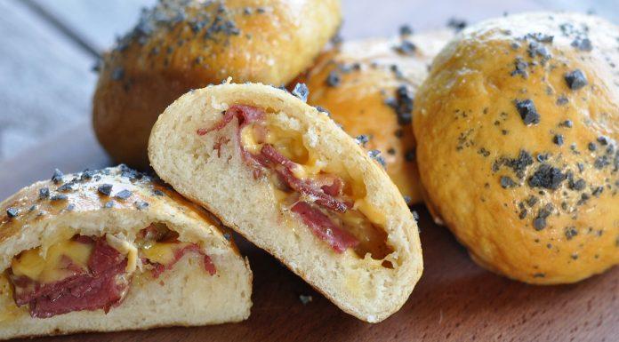 Pastrami Cheddar Pretzel Buns