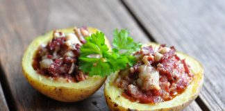 Überbackene Pastrami Kartoffeln