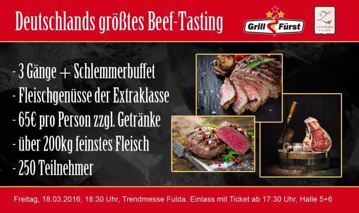 Beef-Tasting auf der Trend-Messe Fulda Grillfürst Grillmesse auf der Trend-Messe Fulda vom 17.-20.März 2016-trend-messe-Beeftasting