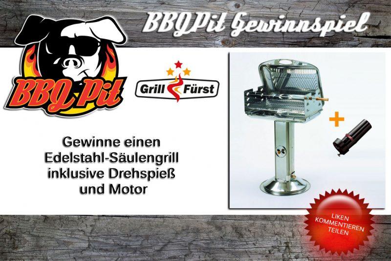 Edelstahl-Säulengrill-Gewinnspiel Edelstahl Saeulengrill 800x534-Gewinne einen Edelstahl-Säulengrill inkl. Drehspieß & Motor