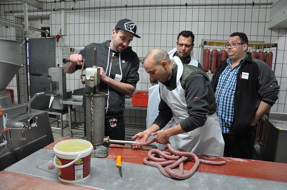 Bratwurst-Seminar bei Fleischerei Laschke in Heek-bratwurst-seminar-Wurstseminar Fleischerei Laschke Heek 11