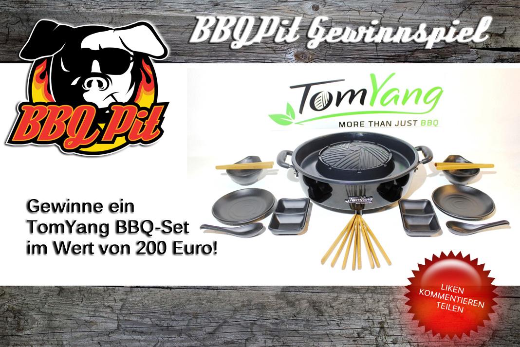 BBQPit-Gewinnspiel TomYang BBQ-Set-GewinnspielTomYangBBQ-Gewinne ein TomYang BBQ-Set im Wert von 200 Euro!