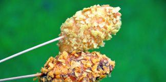Hähnchenspieße mit Chipspanade