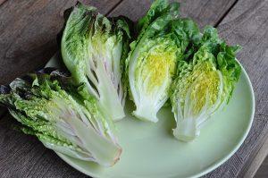 gegrillter salat-Gegrillter Salat Romana Salatherzen 02 300x199-Gegrillter Salat mit Parmesan und Granatapfel