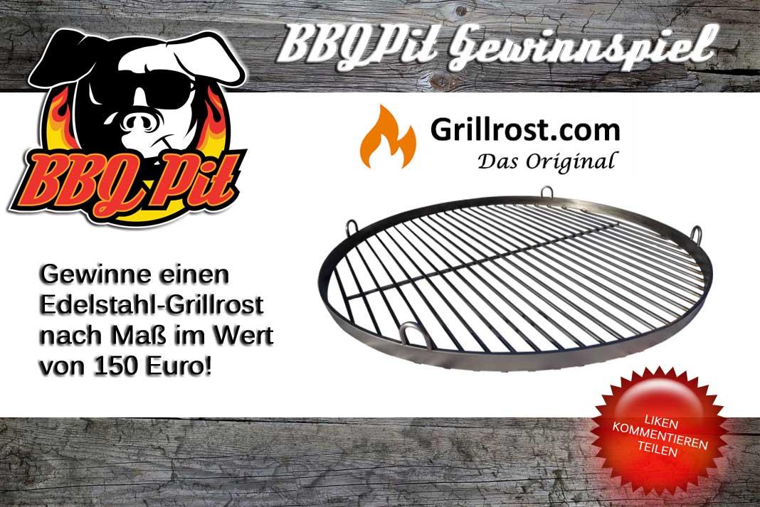 Gewinne einen Edelstahl-Grillrost nach Maß gewinne einen edelstahl-grillrost-Gewinnspiel Grillrost-Gewinne einen Edelstahl-Grillrost nach Maß im Wert von 150€