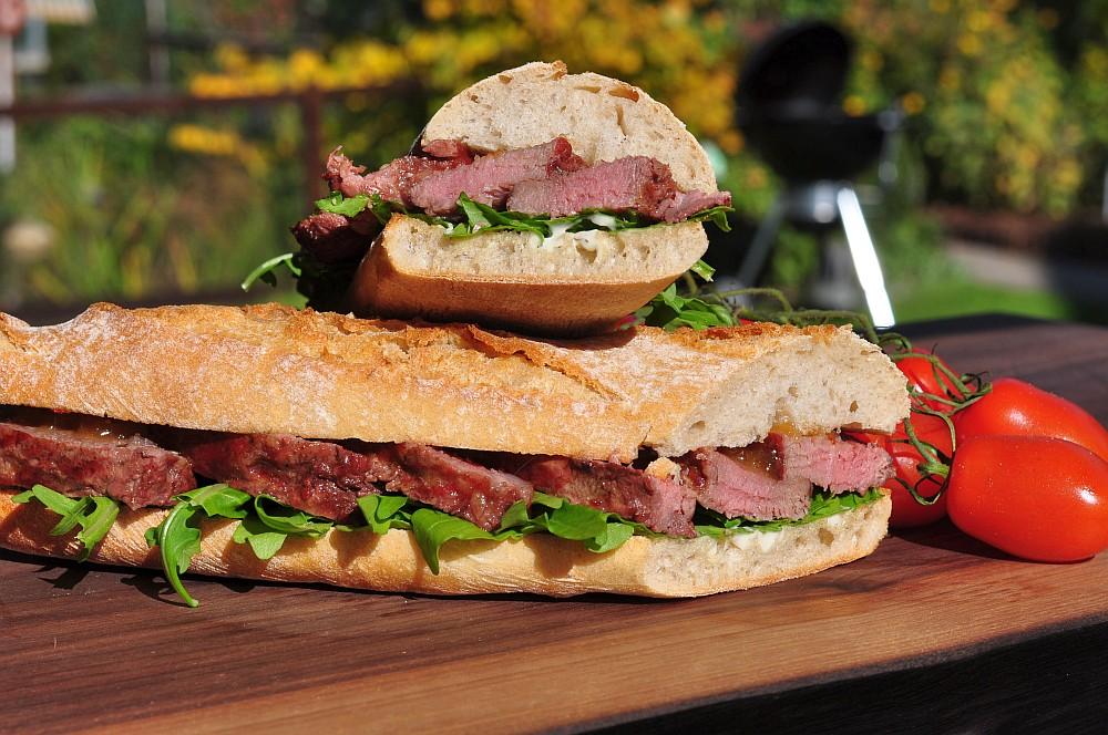 Ibérico Presa-Sandwich ibérico-sandwich-Iberico Sandwich Presa 05-Ibérico-Sandwich mit Apfelchutney und Rucola