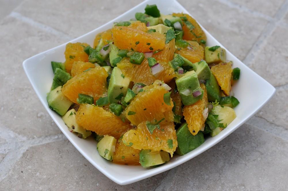 Orangen-Salsa Orangen-Avocado-Salsa-Orangen Avocado Salsa 02-Fruchtige Orangen-Avocado-Salsa