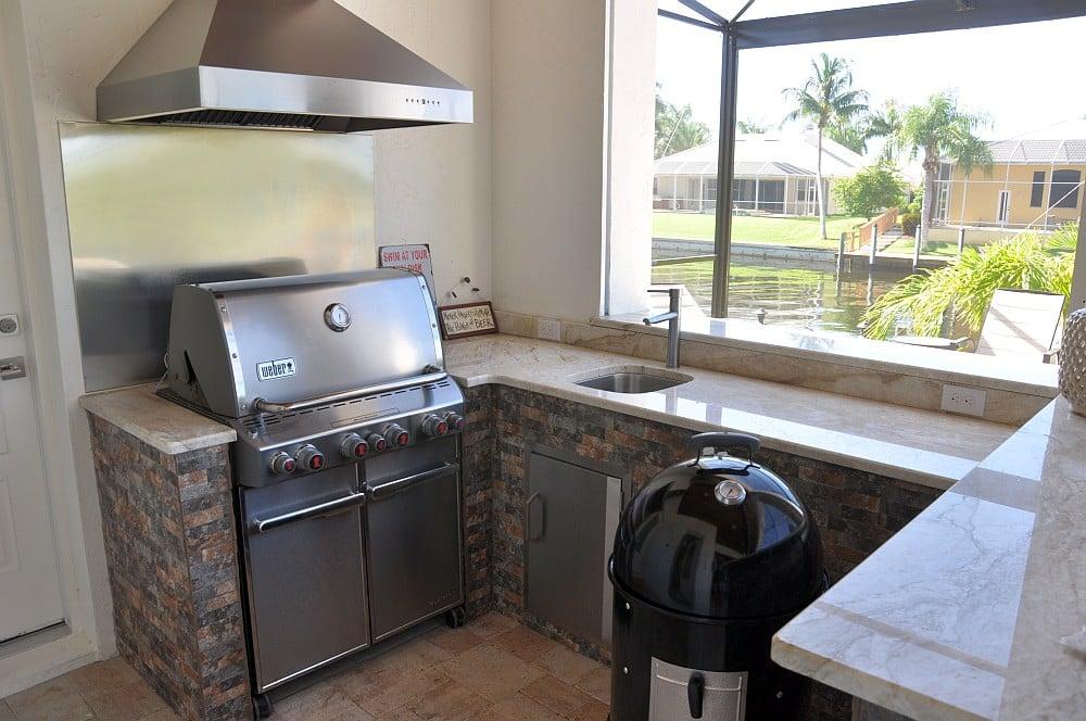 "Außenküche Villa Sedona Villa Sedona in Cape Coral / Florida – die ""Grillvilla""-villa sedona-Villa Sedona Cape Coral Florida Grillvilla 04"