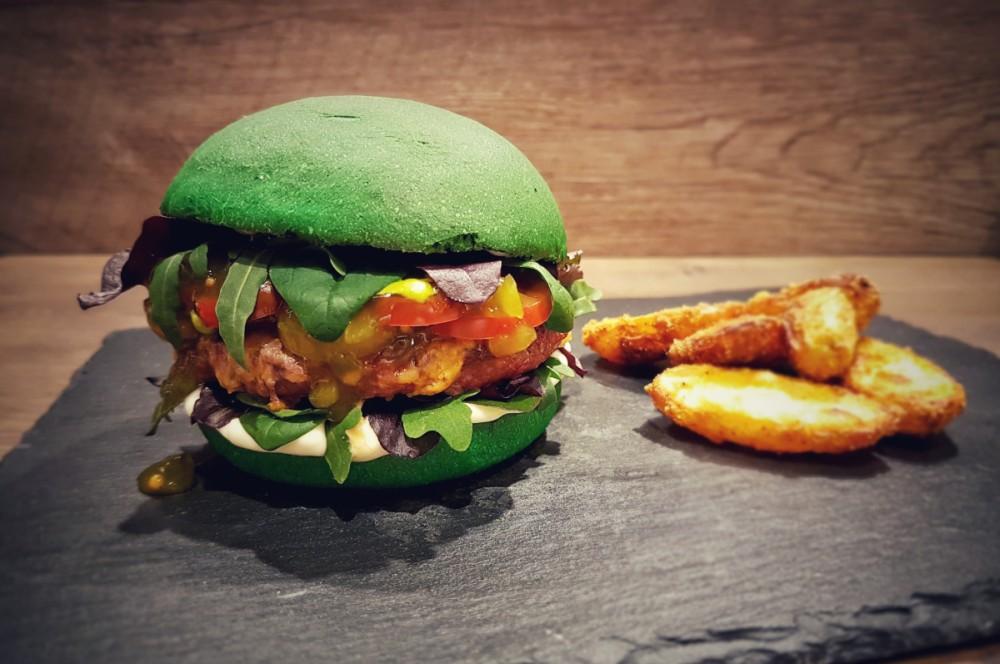 Der Dschungel-Burger dschungel-burger-Dschungel Burger Dschungelcamp gruen 02-Grüner Dschungel-Burger zum Dschungelcamp