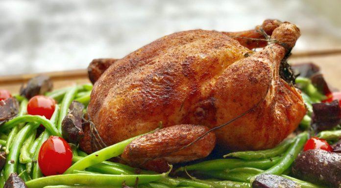 gegrilltes Hähnchen