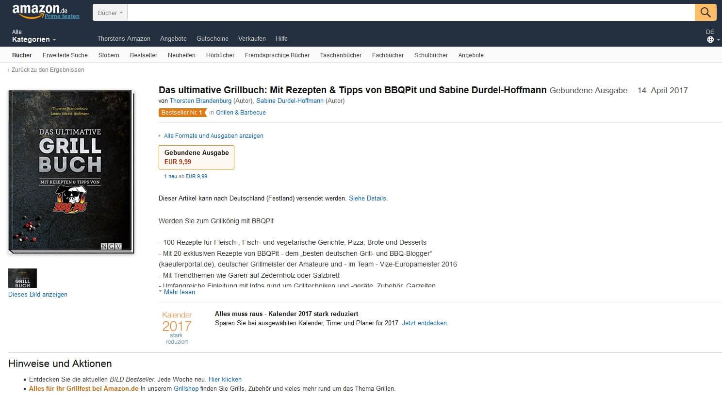 Das ultimative Grillbuch das ultimative grillbuch-BestsellerGrillenBarbecue-Das ultimative Grillbuch mit BBQPit