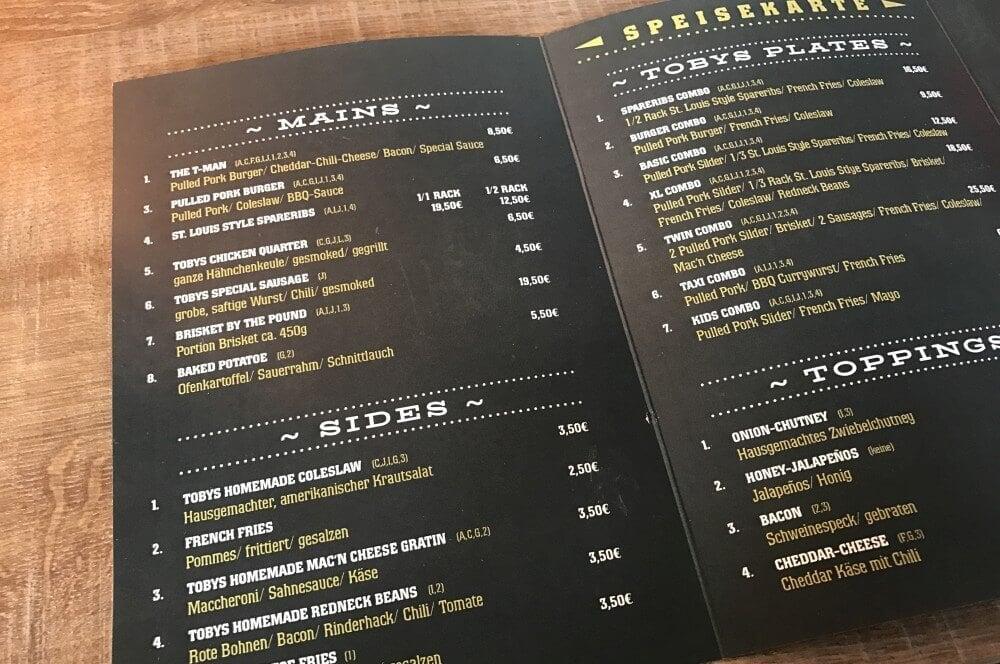 Speisekarte Tobys BBQ in Bochum tobys bbq-Tobys BBQ Bochum 02-Tobys BBQ in Bochum – authentisches amerikanisches BBQ im Pott