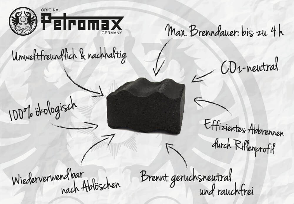 Petromax Cabix Plus petromax cabix plus-Petromax Cabix Plus Feuertopf Grill Briketts 01-Petromax Cabix Plus – Briketts für Dutch Oven, Feuertopf und Grill