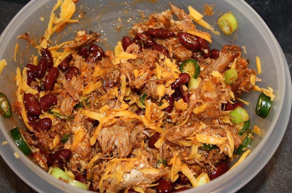 Pulled Pork Cheddar pulled pork nachos-Pulled Pork Nachos 02-Pulled Pork Nachos mit Cheddar überbacken