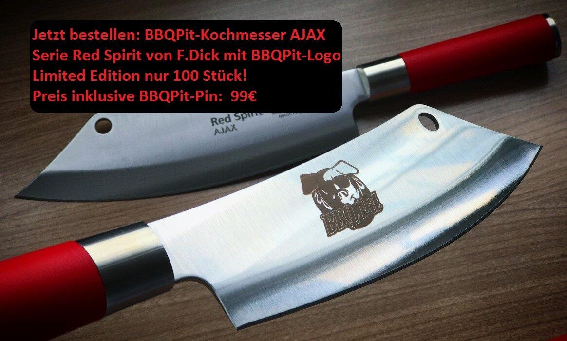 bbqpit-kochmesser-BBQPit RedSpirit Ajax FDick 99   -BBQPit-Kochmesser AJAX Red Spirit von F.Dick – Limited Edition 99€