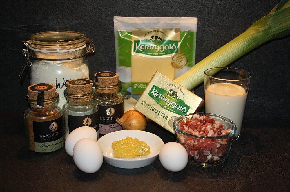 Zutaten Quiche Lorraine quiche lorraine-Quiche Lorraine franzoesischer Speckkuchen 01-Quiche Lorraine – Rezept für französischen Speckkuchen