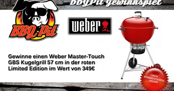 gewinne einen weber kugelgrill master touch gbs limited. Black Bedroom Furniture Sets. Home Design Ideas